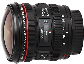 Canon EF 8-15mm f4L USM Fisheye