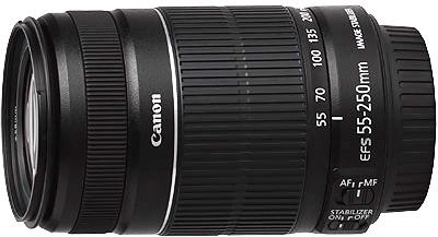 Canon EF-S 55-250mm f4-5.6- S II Lens