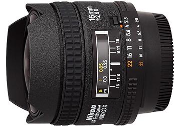Nikon 16mm f2.8D AF Fisheye Lens